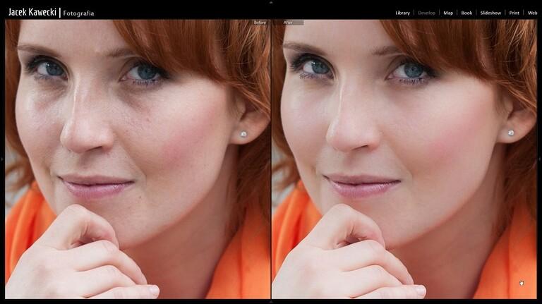 Retusz zdjęć portretowych w Adobe Lightroom