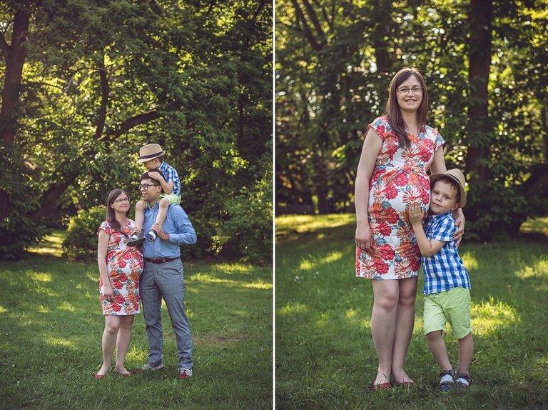Rodzinno-ciążowa sesja zdjęciowa - Bogusia, Michał i Jerzy   Wrocław